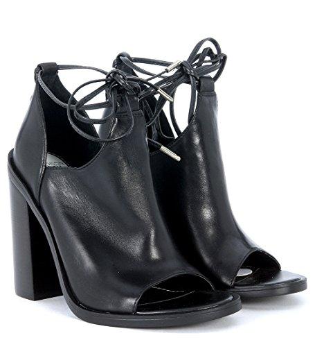 Sandalo 36 Lacci Sandalo Pelle Pelle Nera rXOxrF6q