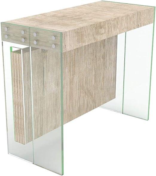 VE.CA.s.r.l. Mesa consola extensible Crystal con puerta ...