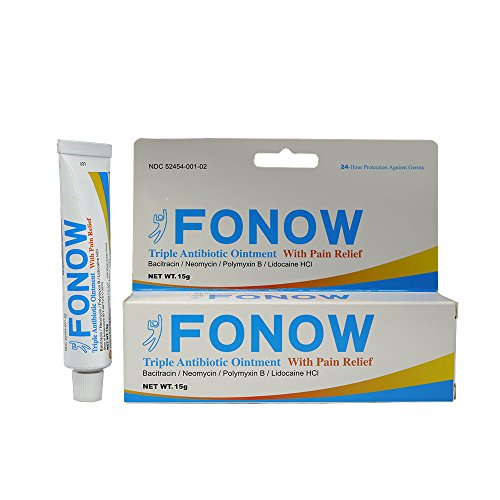 Ointment 15g Tube - FONOW Triple Antibiotic Ointment With Pain Relief 15g*6