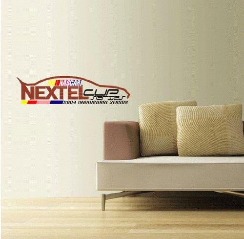 nextel-cup-set-of-2-nascar-racing-wall-decal-sticker-25-x-6