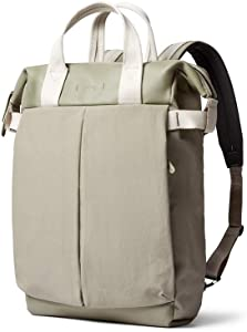 """Bellroy Tokyo Totepack Premium (Leather Backpack and Tote Bag, 13"""" Laptop, Tablet, Notes, Cables, Drink Bottle, Spare Clothes, Everyday Essentials) - Lichen"""