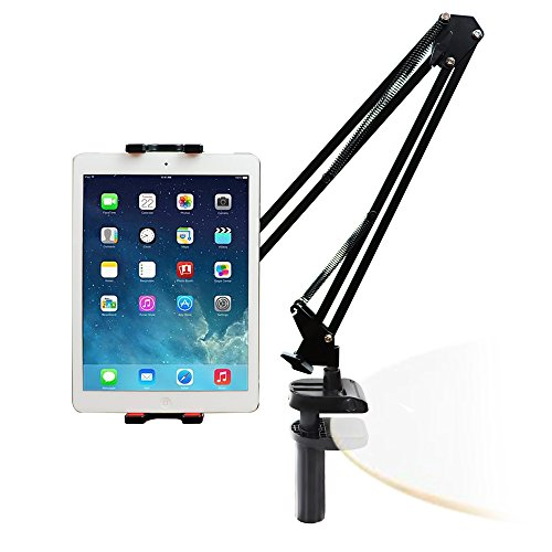 IIMII iPad Holder, Tablet Stand, 360-Degree Swivel, Adjustable Long Arm, Bed, Desk, Kitchen, Office Holder Mount, Compatible with iPad, iPhone, Kindle Fire, Nintendo Switch and More