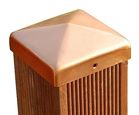 8x8 cm Pfostenkappe schwarz Pyramide f/ür Holz-Pfosten inkl VA-Schrauben