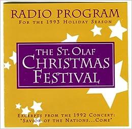 the st olaf christmas festival radio program for the 1993 holiday season cd st olaf choir amazoncom books - St Olaf Christmas Festival