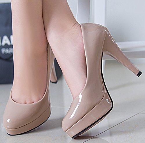 Aisun Vernis Sexy Femme En Plateforme Abricot Stiletto Escarpins zwq7vrzB