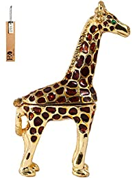 Ring Holder Hinged Trinket Boxes for Gifts ,Jewelry Boxes Organizer Display Holder (giraffe trinket box)