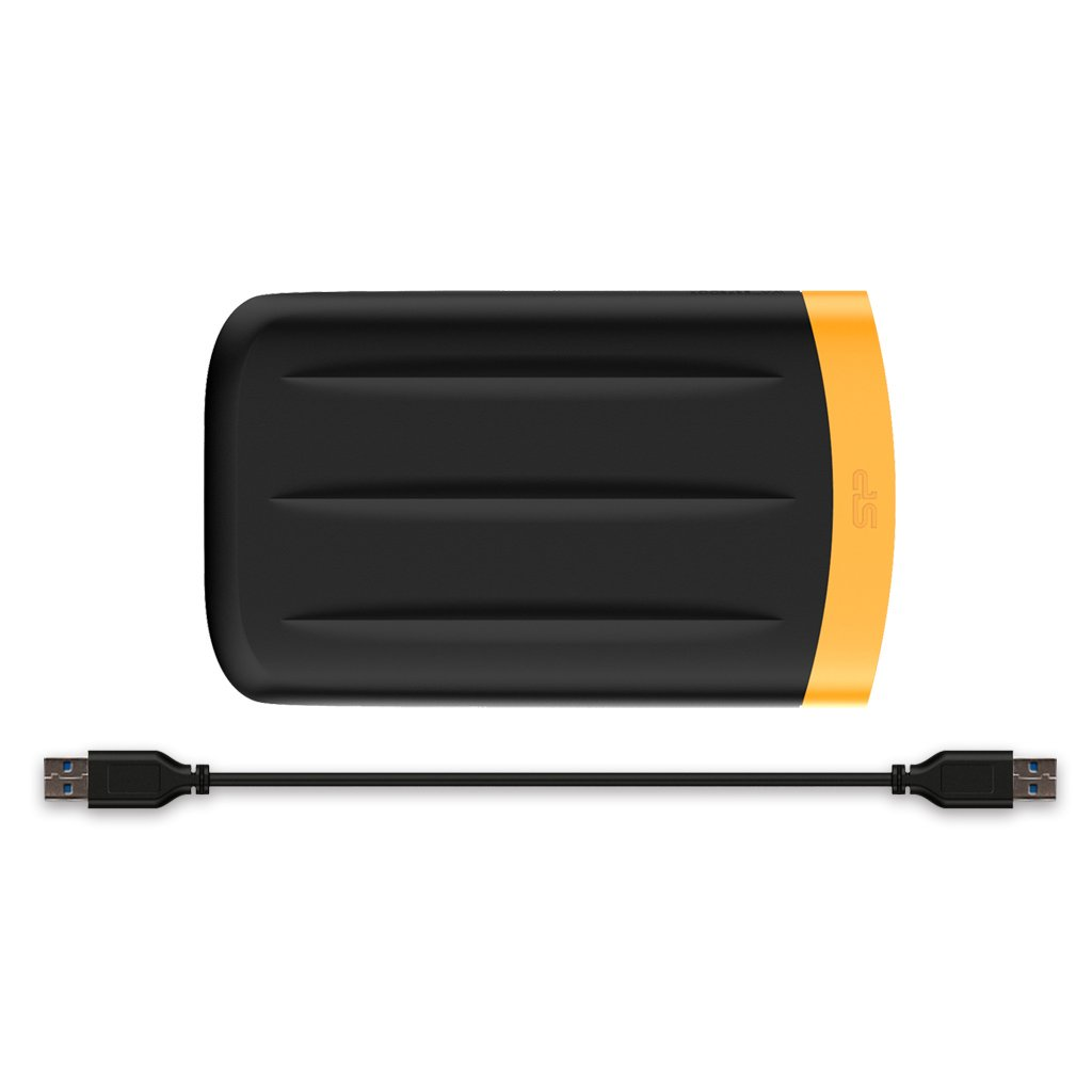 2TB Silicon Power Armor A65 Shockproof/Waterproof Portable Hard Drive USB3.0 - Black/Orange Edition by Silicon Power (Image #7)