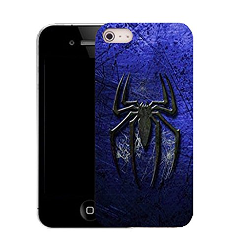 Mobile Case Mate IPhone 4s clip on Silicone Coque couverture case cover Pare-chocs + STYLET - blue spider pattern (SILICON)