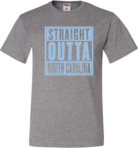 Carolina Oxford (Go All Out Screenprinting XXX-Large Oxford Adult Straight Outta North Carolina T-Shirt)