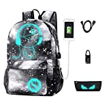 Best Backpacks For Teen Boys - Galaxy Backpack, Anime Luminous Anti-Theft School Bag, Laptop Review