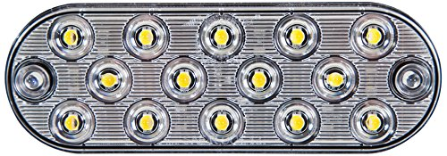 Maxxima M63350 14 LED White Oval Ultra-Thin Low Profile Back-Up Light by Maxxima