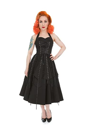 Hearts & Roses Black Gothic Emo Pretty Pirate Long Party Prom Dress ...
