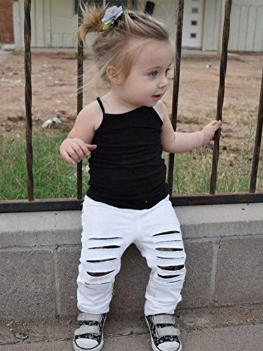 Doubleal Baby Girl Toddler Girls Kids Camisole Tank Top Undershirts Solid Soft Cotton