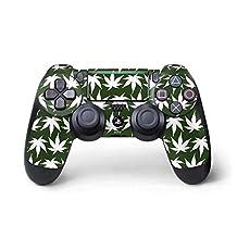 Rasta PS4 Pro/Slim Controller Skin - Marijuana Leaf White Pattern | Skinit Lifestyle Skin