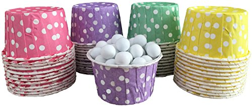 Outside the Box Papers Polka Dot Candy Nut Cups 48 Pack Purple, Green, Yellow, Pink
