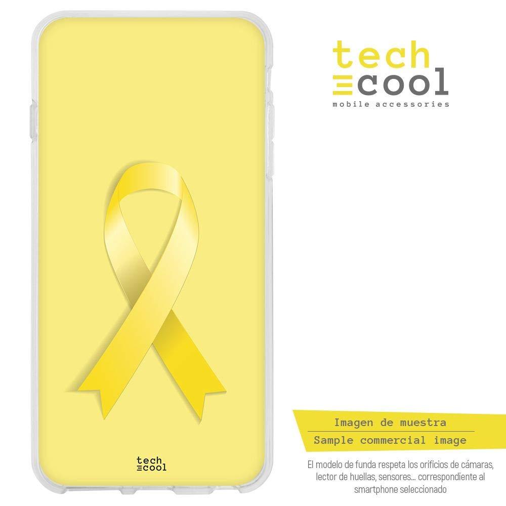 Funnytech/® Funda Silicona para Huawei Nova Plus Lazo Amarillo Fondo Amarillo Gel Silicona Flexible, Dise/ño Exclusivo