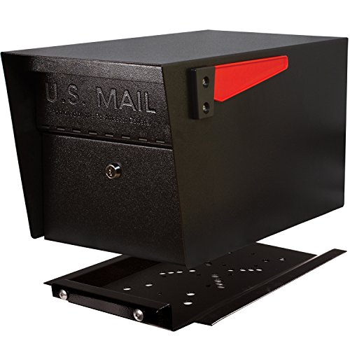 Mail Boss 7500 Mail Manager Pro Curbside Locking Security Mailbox, Black
