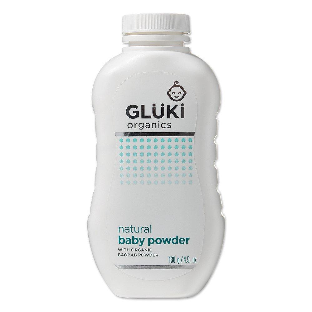 GLÜKi Polvos naturales para bebé (Talco Libre 130g) M026-BP-UK