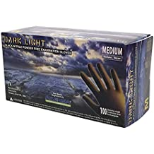 Adenna Dark Light 9 mil Nitrile Powder Free Exam Gloves (Black, M-XXL)