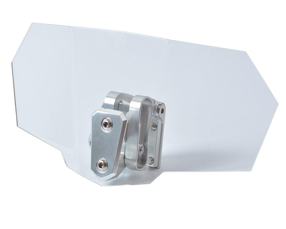Tencasi Universal Parte Superior Delantera Ajustable Deflector de Flujo de Aire Deflector de Viento Parabrisas para la Motocicleta
