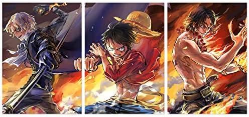 Poster One Piece Luffy Zoro Japan Anime Room Club Wall Cloth Print 33