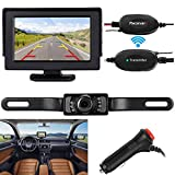 backup camera in car - ZSMJ Wireless Backup Camera and Monitor Kit 9V-24V Rear View System For Car SUV Van Night Vision Waterproof camera with Guide lines