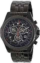 "Akribos XXIV Men's AK517BLK ""Ultimate"" Stainless Steel Watch"