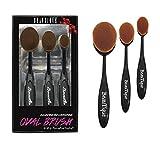 Beautia Oval Makeup Brush Set, Foundation, Concealer. Contouring Makeup Tools (3pcs Set 59110)
