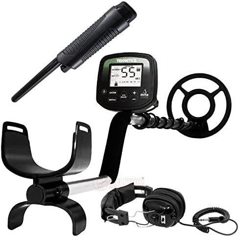 Teknetics Delta 4000 Metal Detector w 8 Submersible Coil Plus Accessory Package