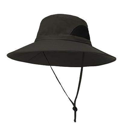 Handfly UPF 50 + Sombrero de Boonie de ala Ancha Impermeable Transpirable  Caza Pesca Safari Sombrero 668ad9b1902