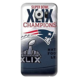 S6 Edge Case, NFL - New England Patriots Super Bowl Champs - Samsung Galaxy S6 Edge Case - High Quality PC Case by runtopwell