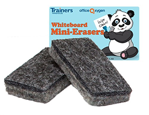Mini Erasers for Whiteboard Dry-Erase, Set of 30 erasers, 2.5