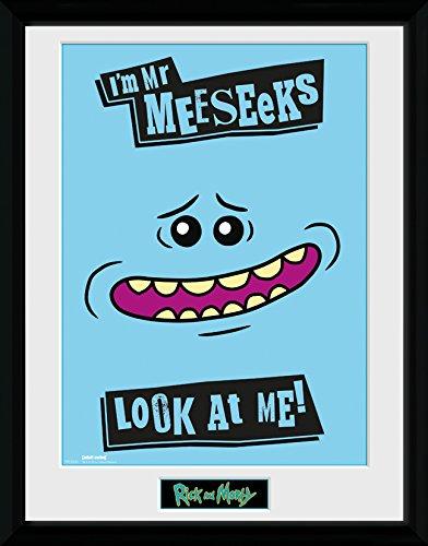 GB Eye LTD, Rick and Morty, Mr Meeseeks, Print Enmarcado, 30 ...