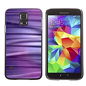 TopCaseStore / la caja del caucho duro de la cubierta de protección de la piel - Abstract Purpel Lines - Samsung Galaxy S5 SM-G900