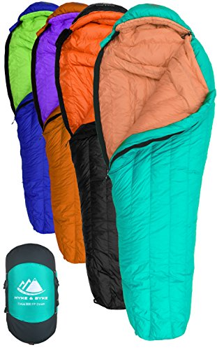 Cheap Goose Down Sleeping Bag for Backpacking – Eolus 15 & 30 Degree F 800 Fill Power Ultralight, Ultra Compact Down Filled Backpack Packable 3/4 Season Mens and Womens Lightweight Mummy Bags Cold Weather