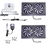 AV Cabinet Cooling: Dual-Megafan Air Control cooling fan system, with Digital thermostat & multispeed