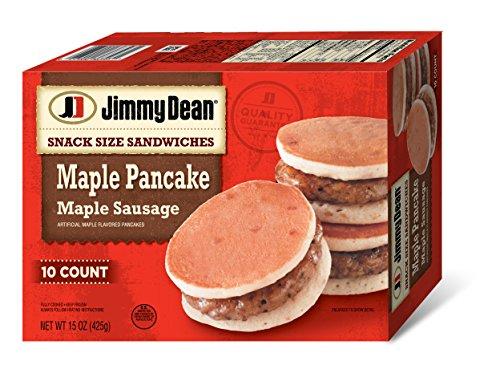 (Jimmy Dean Snack Size Maple Pancake & Sausage Sandwiches, 10 Count (Frozen))