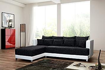 Schlafsofa Sofa Couch Ecksofa Eckcouch Schwarz Weiss Wien L.
