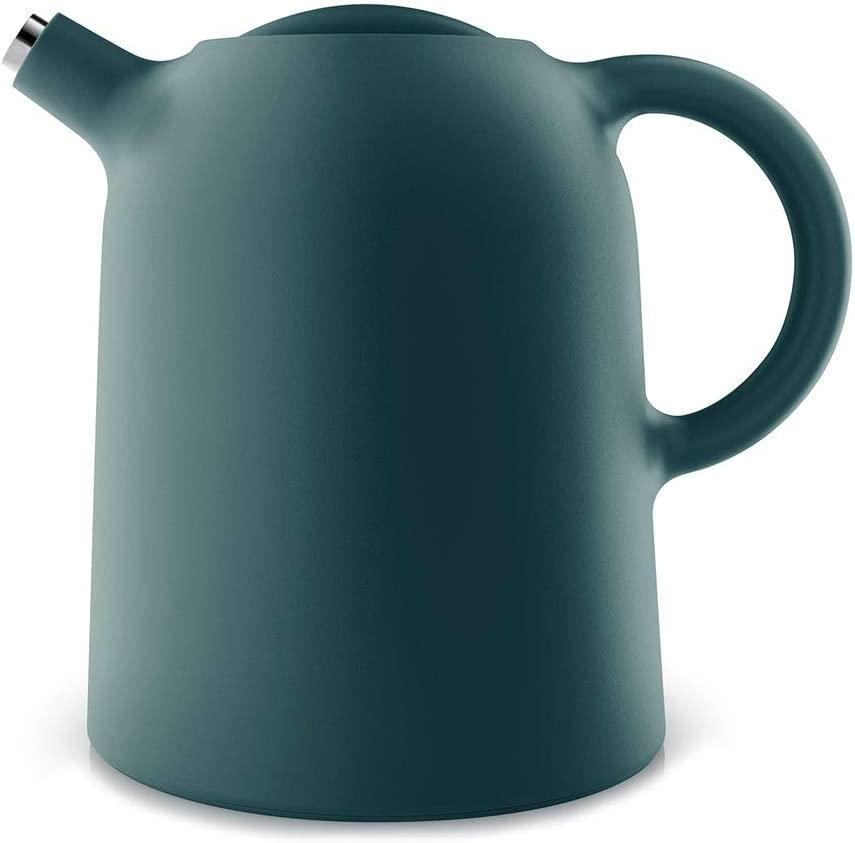Eva Solo Thimble Double-Walled Vacuum Thermal Carafe For Coffee And Tea 1.0 Liter Petrol Blue