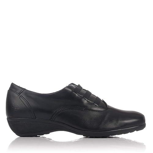 Zapato 37 Horas Elasticos Negro Amazon Complementos 1301 es Zapatos Mujer Piel Y 48 qR4EU04