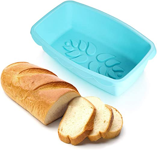 Amazon.com: Molde de silicona antiadherente para pan de 10,5 ...