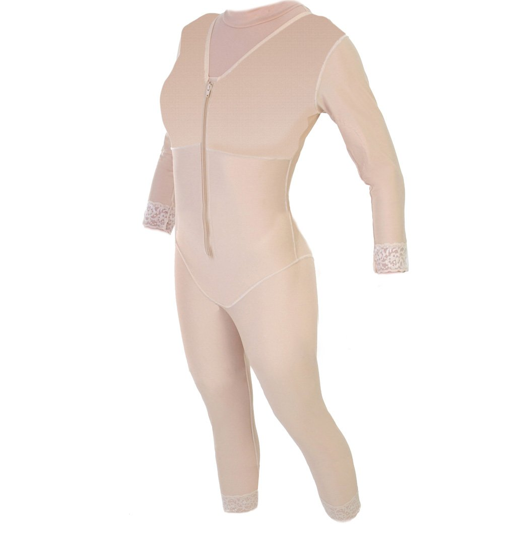 Post Abdominoplasty - Body Shaper Ankle with Sleeves | ContourMD : Style 29S - XX-Large - Beige