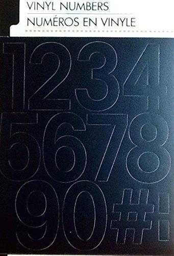 - Black Vinyl Numbers ~ Pre-cut Peel & Use 2 Inch ~ 3 of Each 0-9