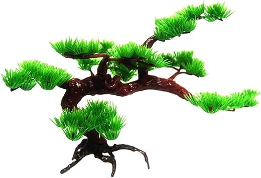 Popetpop Kunstliches Bonsai Baum Aquarium Dekoration Kunstliche Garten Pflanzen Bonsai Baum Zubehor Klein Kiefer Amazon De Haustier