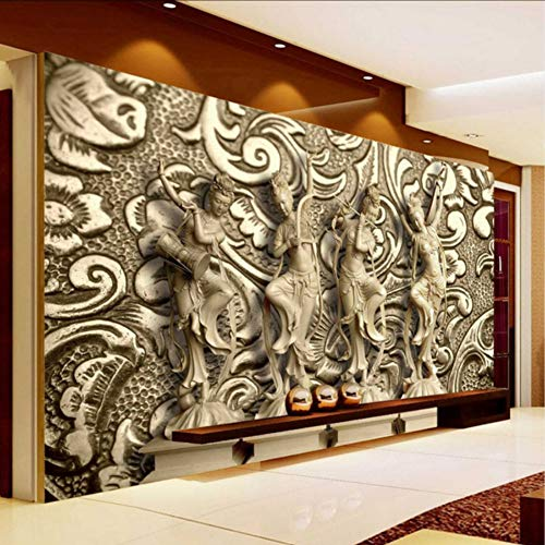 Bb-Zonx Photo Wallpaper 3D Stereoscopic Relief Statue Living Room Tv Background Wall Painting Wallpaper Mural Wallpaper 3D-200X140CM