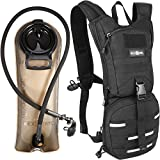 Rexsoul Hydration Backpack 1000 D with 2.5 L Bladder Leak-Proof Water Pack with Reflective Strips Design for Outdoor Sports Hiking | Running | Biking | Climbing | Walking | Cycling |Skiing (Black)