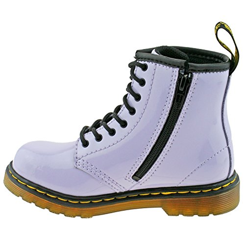 Dr. Martens Kids Collection Unisex Delaney Boots (Big Kid) Purple Heather Patent Lamper 5 M UK