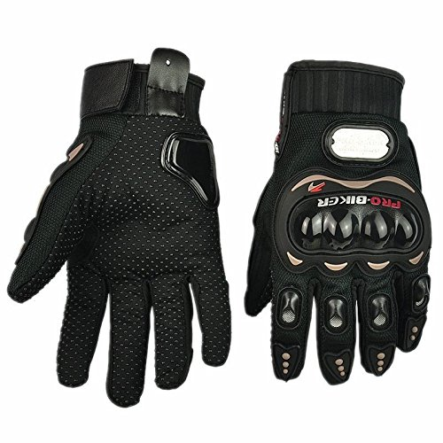Motorcycle Racing Sport Black Pro-Biker Motocross Armor Gloves Protection Size XL For Suzuki All Model Year