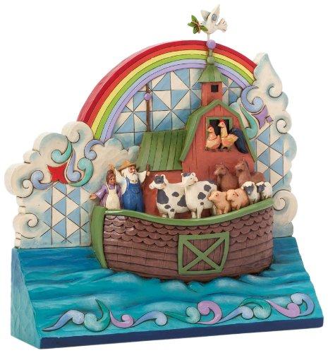 Jim Shore Heartwood Creek Noah's Ark Standing Plaque Figurine (Noahs Ark Jim Shore)