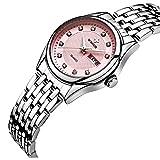 WWOOR New Women Watches Quartz watch women Dress Ladies Watch Classic Retro Stainless Straps redWR0015